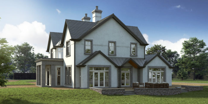 Country House, Architectural Visualisation, CGI Rendering, 3D House, 3D Visualisation, G-Net 3D, Cork, Ireland, Sherry Fitzgerald https://www.gnet.ie/